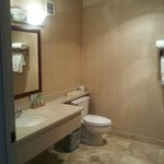 Large bathroom with nice ammenities