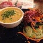 Potato & Cheeze Soup + winter salad