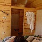 Bathroom seprate from vanity and bedroom