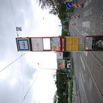 tram station near the hostel