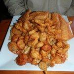 huge seafood platter