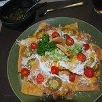 Nachos plate - no meat... DELICIOUS!
