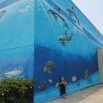 Corner of the mural
