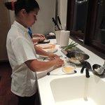 Chef Nam hard at work