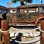Classic car at Rt 66 motel
