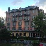 Hotel Interlaken at dusk