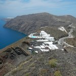 View from Fira to Oia walk