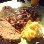 Schnitzel with bread & potato