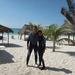 Playa xpu-ha y la parejita feliz