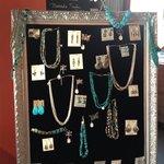 Handmade items throughout