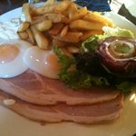 Ham and eggs at the Radstock