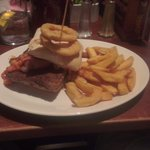 The Breakfast Tower Burger