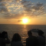 Sunset a Rick's Cafe on the Negril tour