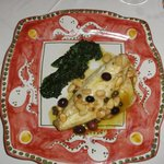 sea bass with spinach