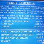 Free ferry schedule