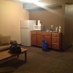 kitchenette area of king suite
