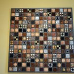 "Beautiful mixed media quilt entitled ""Harvest"" by John Garrett."