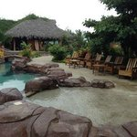 The pool area is lovely