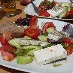 Half way through my Greek Salad...