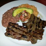 Steak and beans