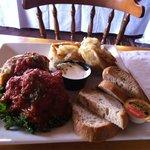 Cabbage Roll & Pierogy Platter