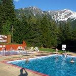 Beautiful view at Canyon Hot Springs