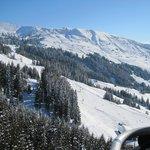 uitzicht vanuit de skilift