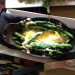 Asparagus w Parmesan & egg