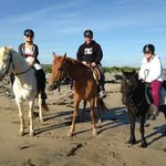 Trek to beach with Carmens horse riding
