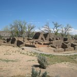 Ancient pueblo ruins in Aztec NM