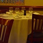 Fine White Tablecloth Dining