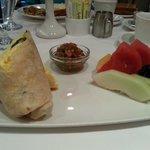 Breakfast wrap $12.25