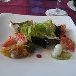 Bunter Blattsalat mit Riesengarnelen
