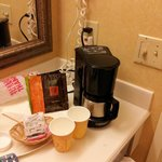 Kaffeemaschine im Bad