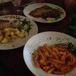 Seabass, Tuna Steak & Pasta with Salmon