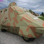 Not from Dr Who, a real armoured truck