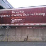 One of the Barton trucks being loaded. Love their signage!