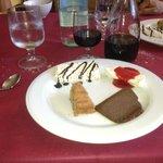 The 4 desserts. Magnifico!