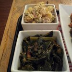 Fingerling potato salad and collared greens