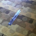 Tape on carpet
