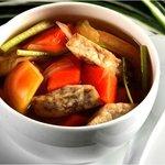 Boiled Yam and Papaya Soup