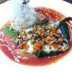Chile relleno (veggie) with rice
