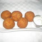 Papas Rellenas (Potato and meat ball)