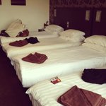 Beds in the hotel
