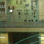 Control panel above the turbines