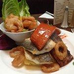 salmon, Seabass & king prawn platter