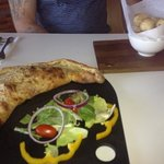 calzone and dough balls...amazing