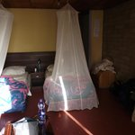 Rooms with mosquito nets