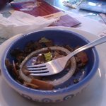 Sauteed mushrooms - I was very hungry!