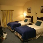 our 3 bed room with en suite bathroom and the most comfortable beds ever.
